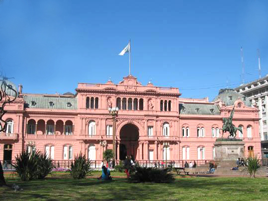 La Casa Rosada, actual sede de gobierno de la Argentina.