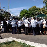 Combatientes Constiticuonalistas frente el Palacio Nacional