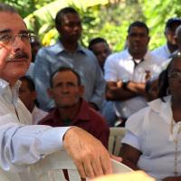 Danilo Medina en Piedra Blanca, Bonao.