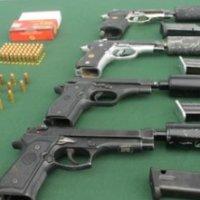 Armas de fuego incautadas