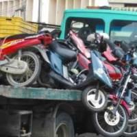 Motocicletas incautadas