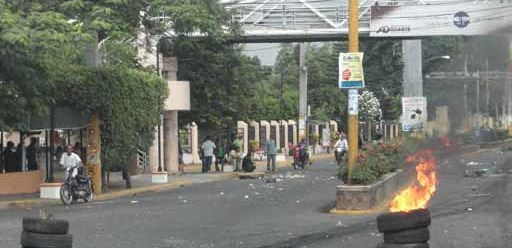 Protestas en la UASD.