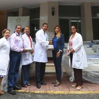 Donan equipos al Hospital Materno Infantil Santo Socorro del ensanche La Fe.